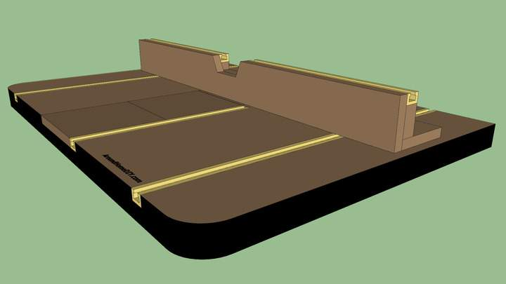 A Sketchup rendering of a drill press table.