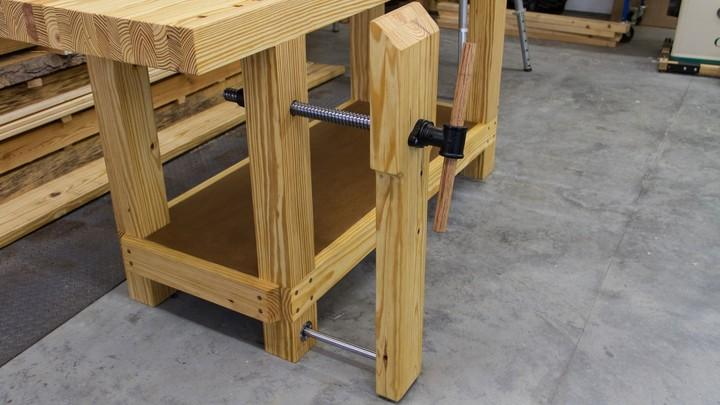 Phenomenal Build A Workbench Leg Vise Onthecornerstone Fun Painted Chair Ideas Images Onthecornerstoneorg
