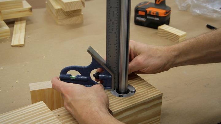 Roubo workbench leg-vise build.