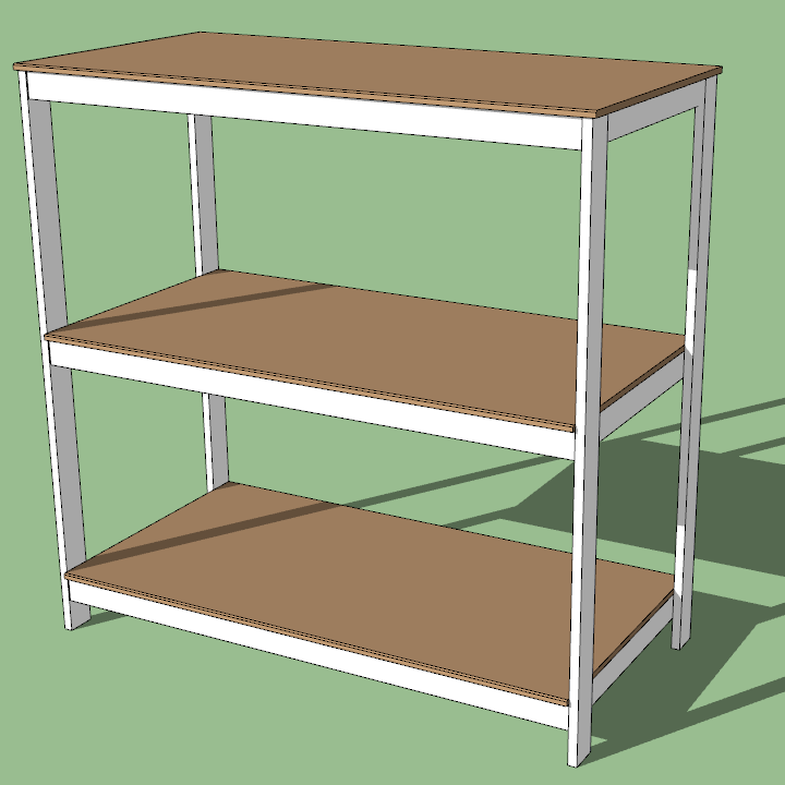 A 3D rendering of a seed starting rack.