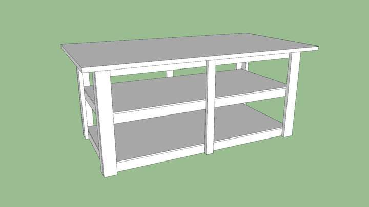 Build a workbench outfeed table for Table design sketchup