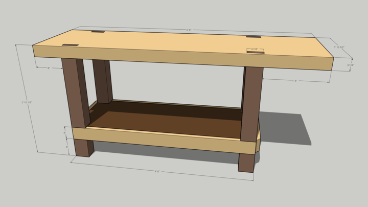 Rendered workbench.