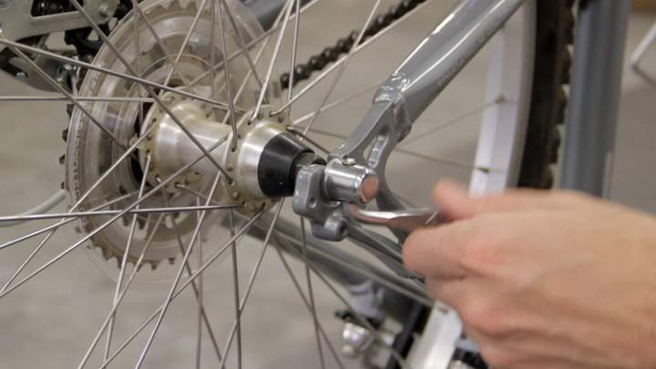 A bicycle wheel quick release level.
