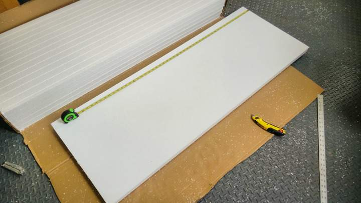 A garage door insulation kit.