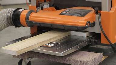 A planer is used to thickness a board.