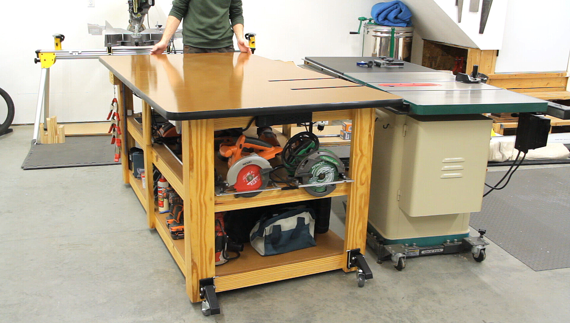 Workbench / Outfeed Table Upgrades